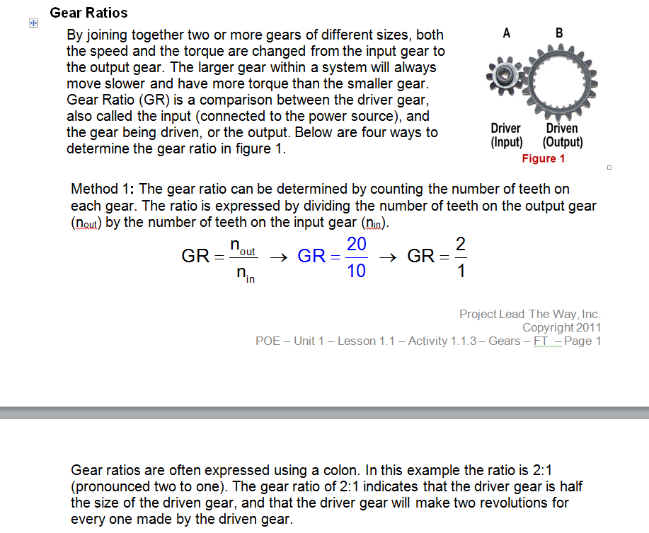 Gear Ratios - General Forum - VEX Forum