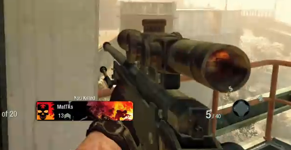 L96AW in Black Ops. My real life precision gun has a very similar stock and