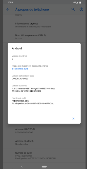 Custom Rom - Android 9 PIE SEMI-GSI Piksel Deneyimi 9 0 V3 [NOTE9