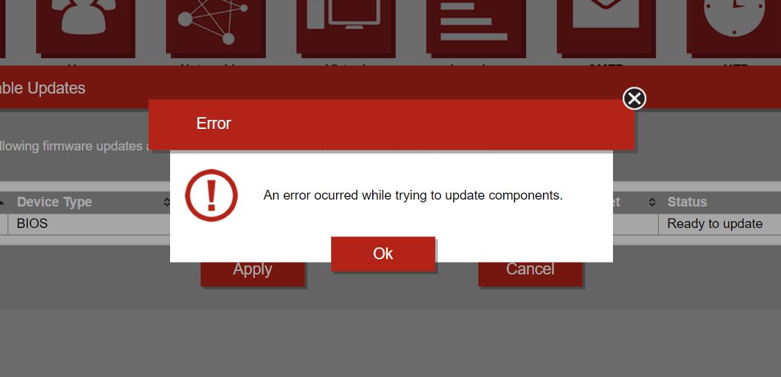 Solved: Cant update via TSM WEB - Lenovo Community