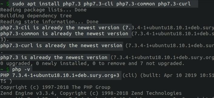 Installing and Running PHP 7.3 on an Ubuntu Server