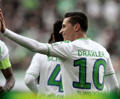 Draxler, autor do primeiro gol do Wolfsburg