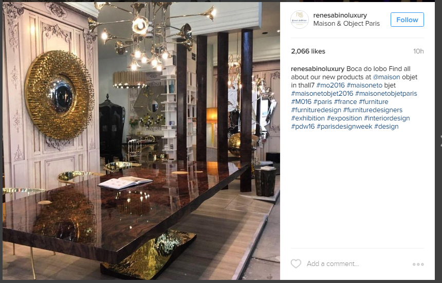 Instagram the best of maison objet 2016 inspirations for Home decor maisons laffitte