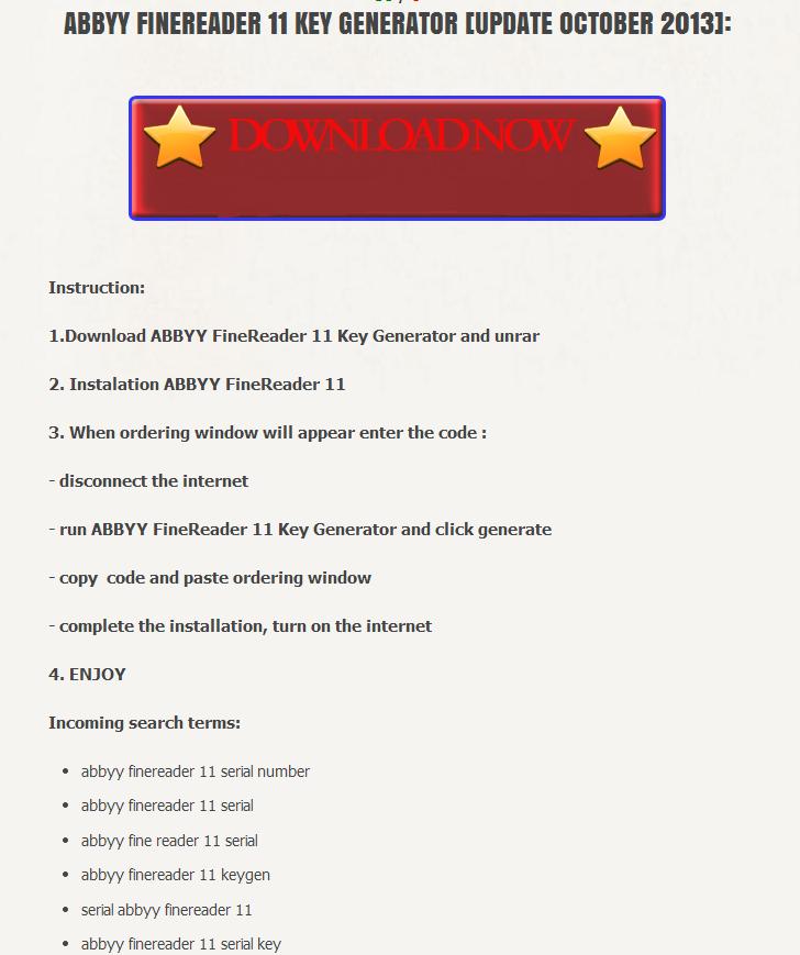 abbyy finereader 11 professional edition serial numarası