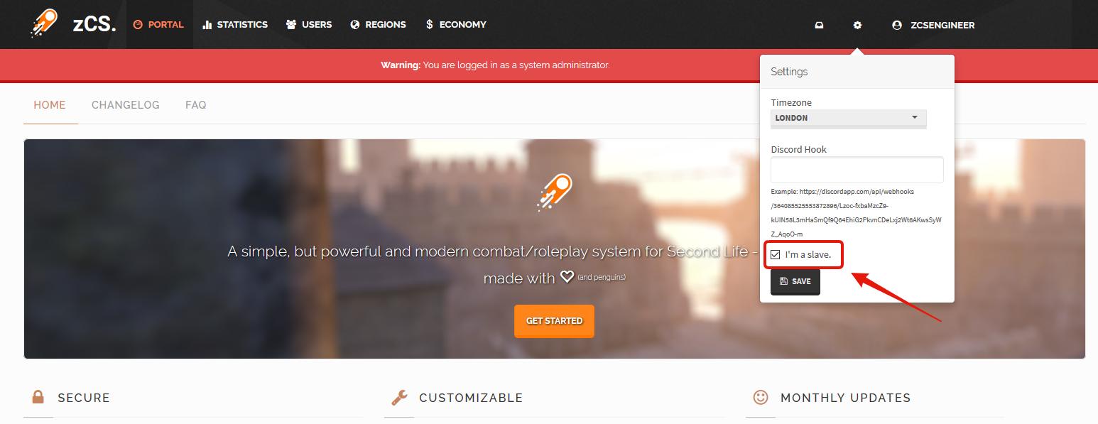 Portal # zCS