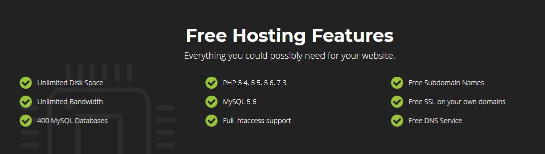 Infinity Free Hosting