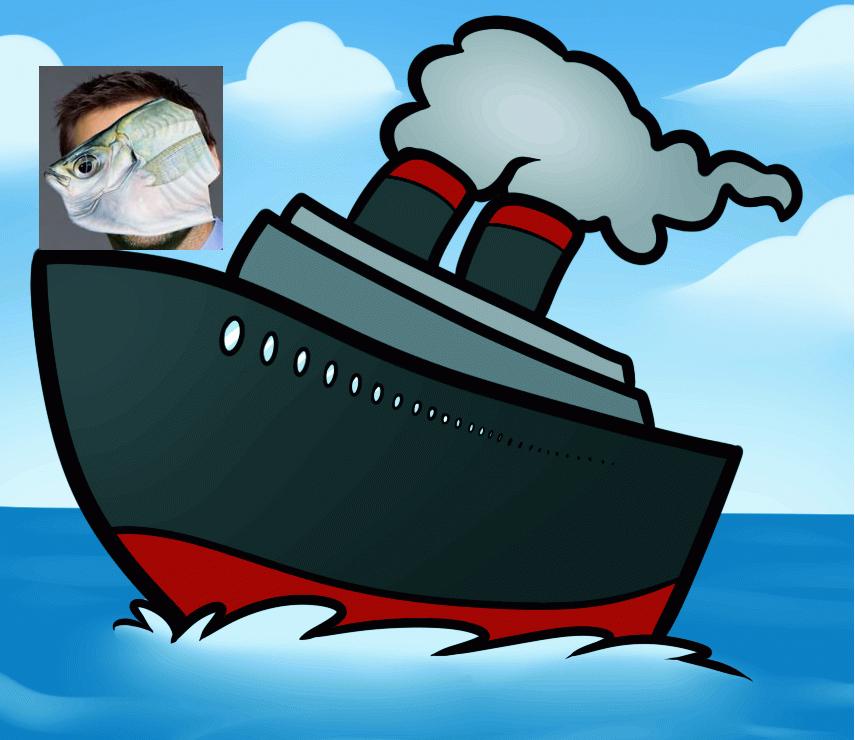 картинка корабль военный мультяшный воды его