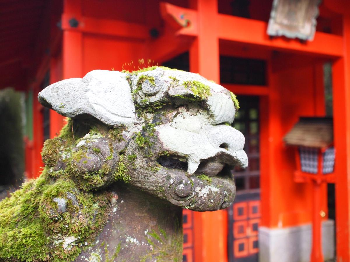 [写真]箱根神社のこま犬