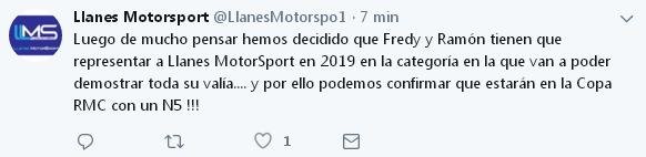 Noticias y/o rumores de temporada: Temporada 2019 601ddf1dd29fe7adc3ca27c381bc5089