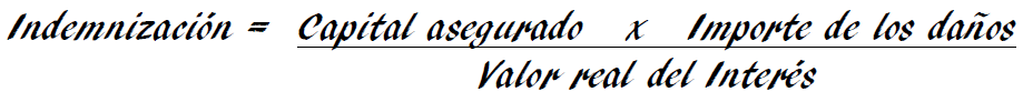 Infraseguro en una comunidad de propietarios - fórmula para calcular indemnización