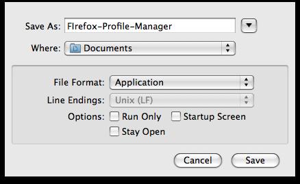 AppleScriptの保存時のオプション