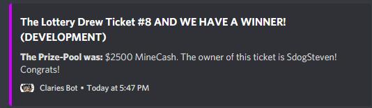SCMowns Server Lottery Mod Minecraft Mod