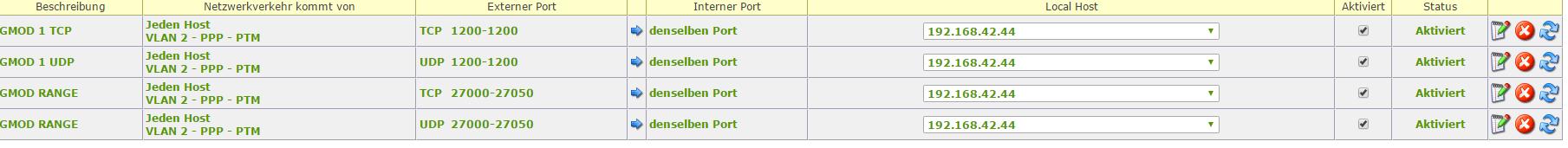 gmod server wont go online ( port forwarding error ) - Garry's Mod