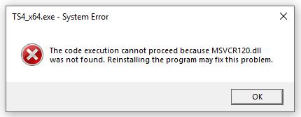 Sims 4 Error (MSVRC120.dll) 6326d8305b0e03ff5f491004eaaeb777