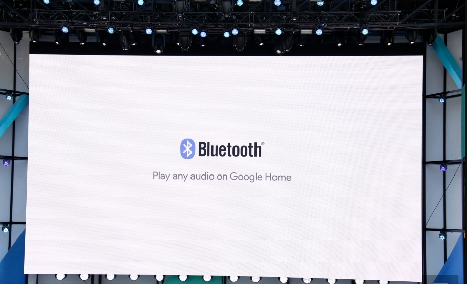 Bluetooth capability for Google Home was announced. (Image Source: Engadget)