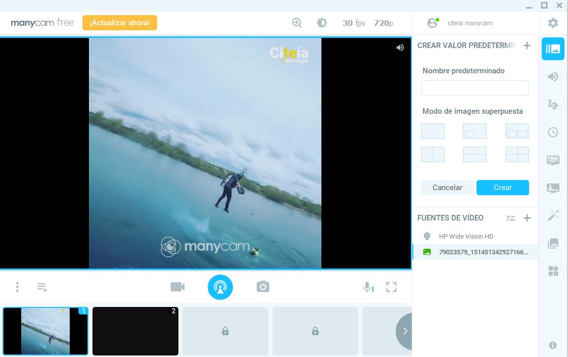 video falso manycam