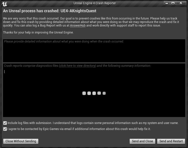 Error log doesn't load during crash reporter - UE4 AnswerHub