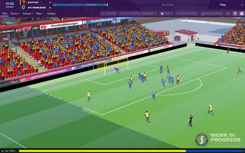 Los gráficos no son el fuerte de Football Manager 2019, aunque esta edición los ha mejorado