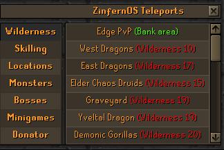 ZinfernOS| Customs interface | Every Boss pet|All osrs Content