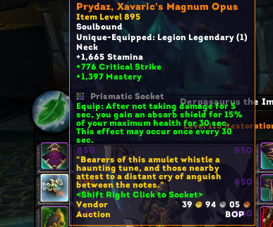legendary rings necks now have socket slots wow