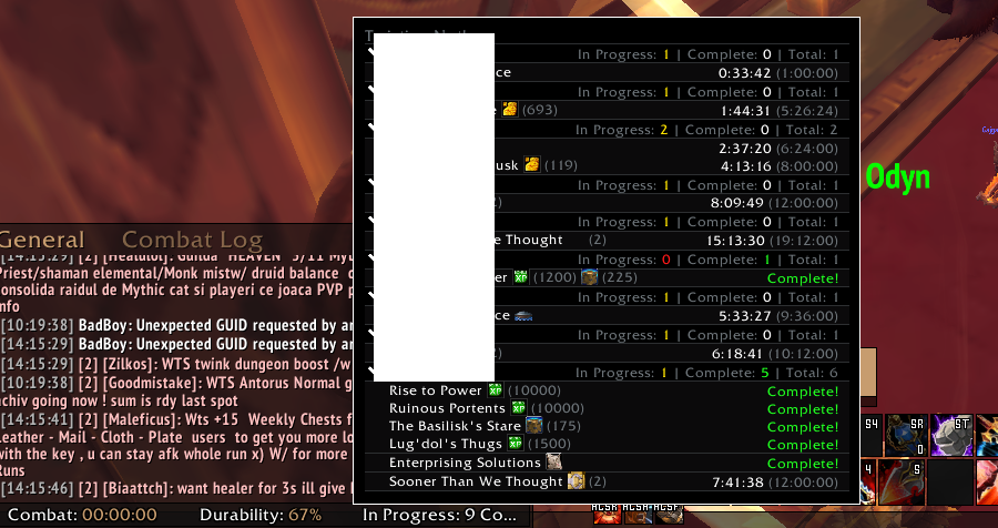 Addon which shows missions up on every alt? : woweconomy