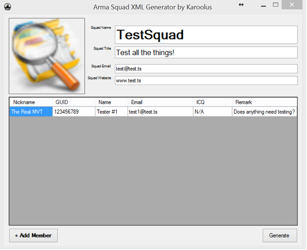 Arma Squad XML Generator with picture converter - FORUMS