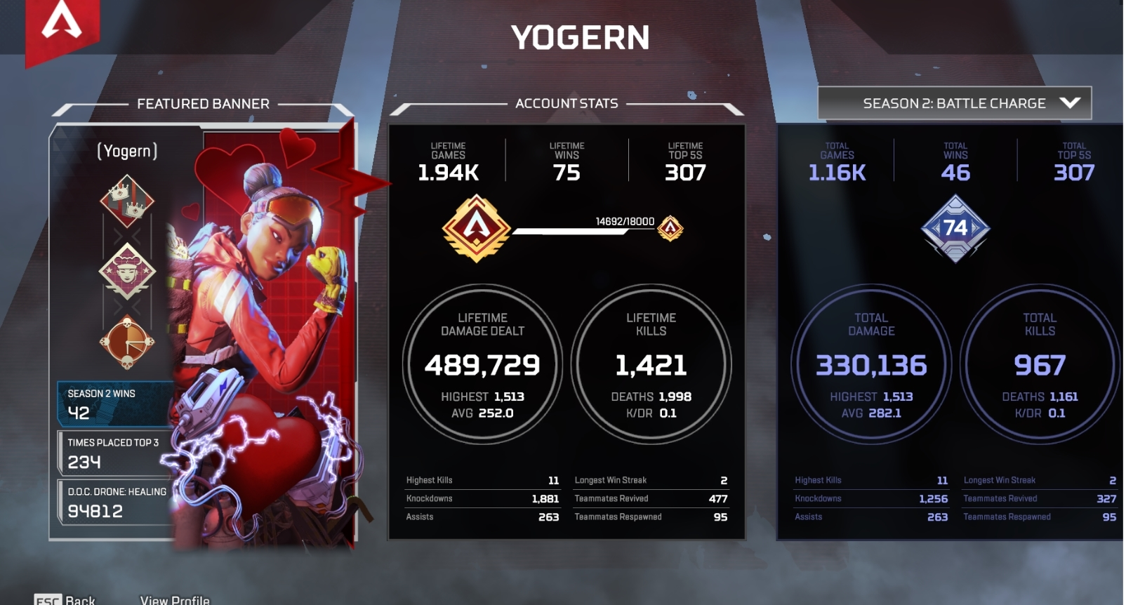 Re: Major Apex BUG wrong stats may affect the game experience for