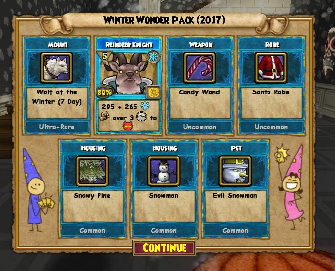 Wizard101 NEW WINTER WONDER PACK 2017 OPENING! : LightTube
