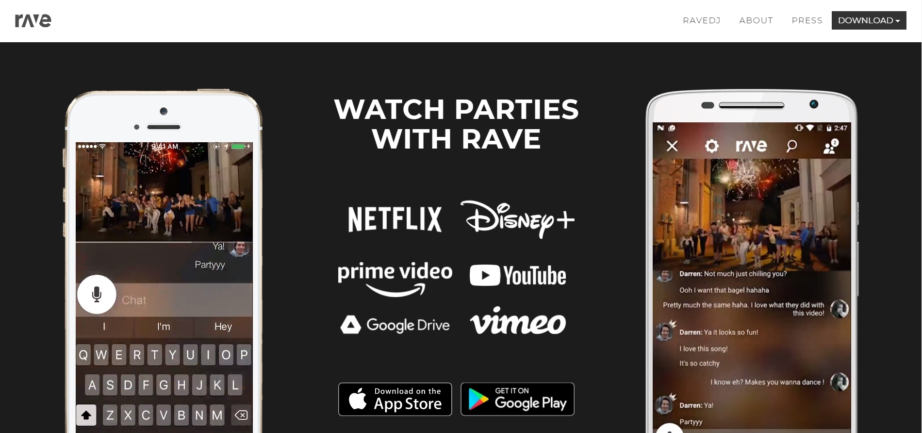 Rave.io - Watch2Gether Alternative