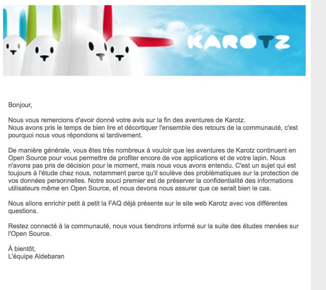 La fin de Karotz annoncée au 15 février 2015 - Page 4 70a7c55d0adc871f1df129c1cc459f49