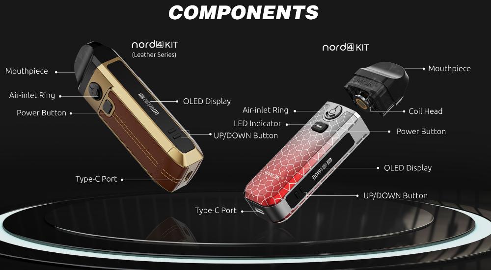 Componentes de Smok Nord 4:
