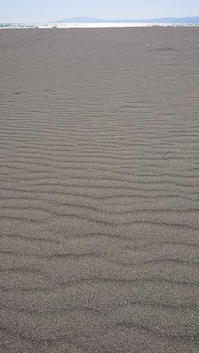 [写真]だれもいない茅ヶ崎海岸(スマホの待受向き)
