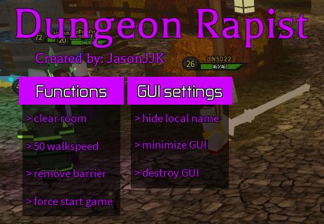 ➡️ LAST UPDATE :(   Dungeon Quest   Dungeon Rapist   V1 6