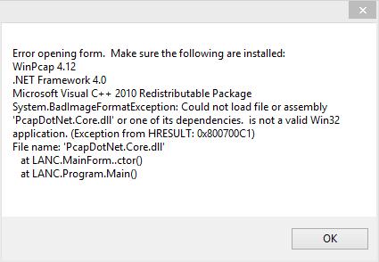 LANC on Windows 8 1
