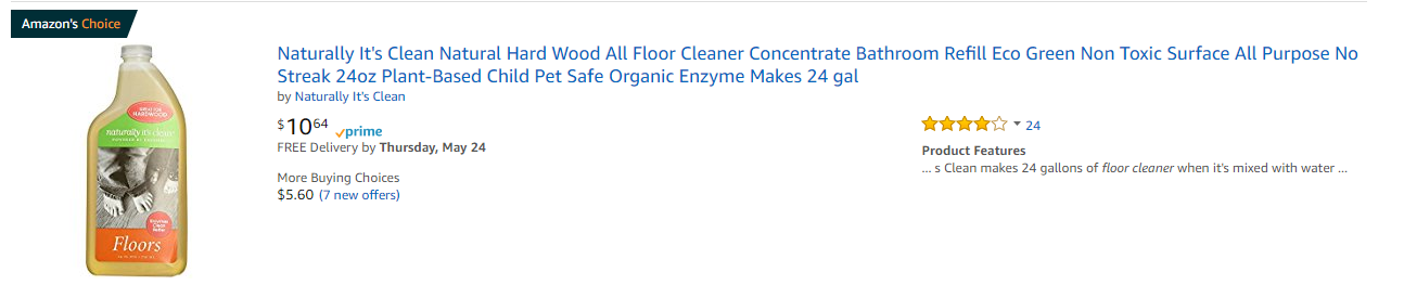 it's clean natural floor cleaner
