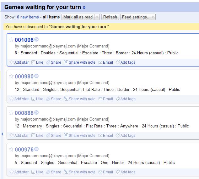 Firefox RSS Play Risk Online