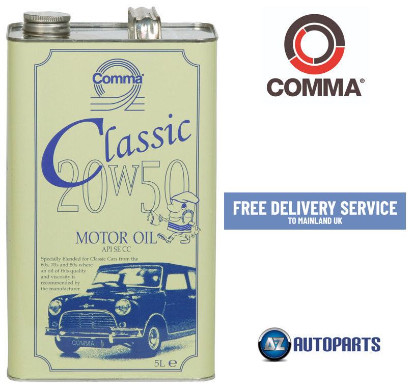 Details about Comma - Classic Motor Oil Car Engine Performance 20W-50 Old  Engines - 5L