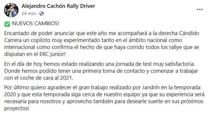 FIA European Rally Championship: Temporada 2021 75eb3773dfb42bee7b20e3fca1d1fe5c