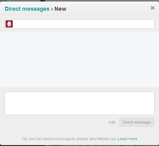 How To Send A Twitter DM Directly From the WP People Hub