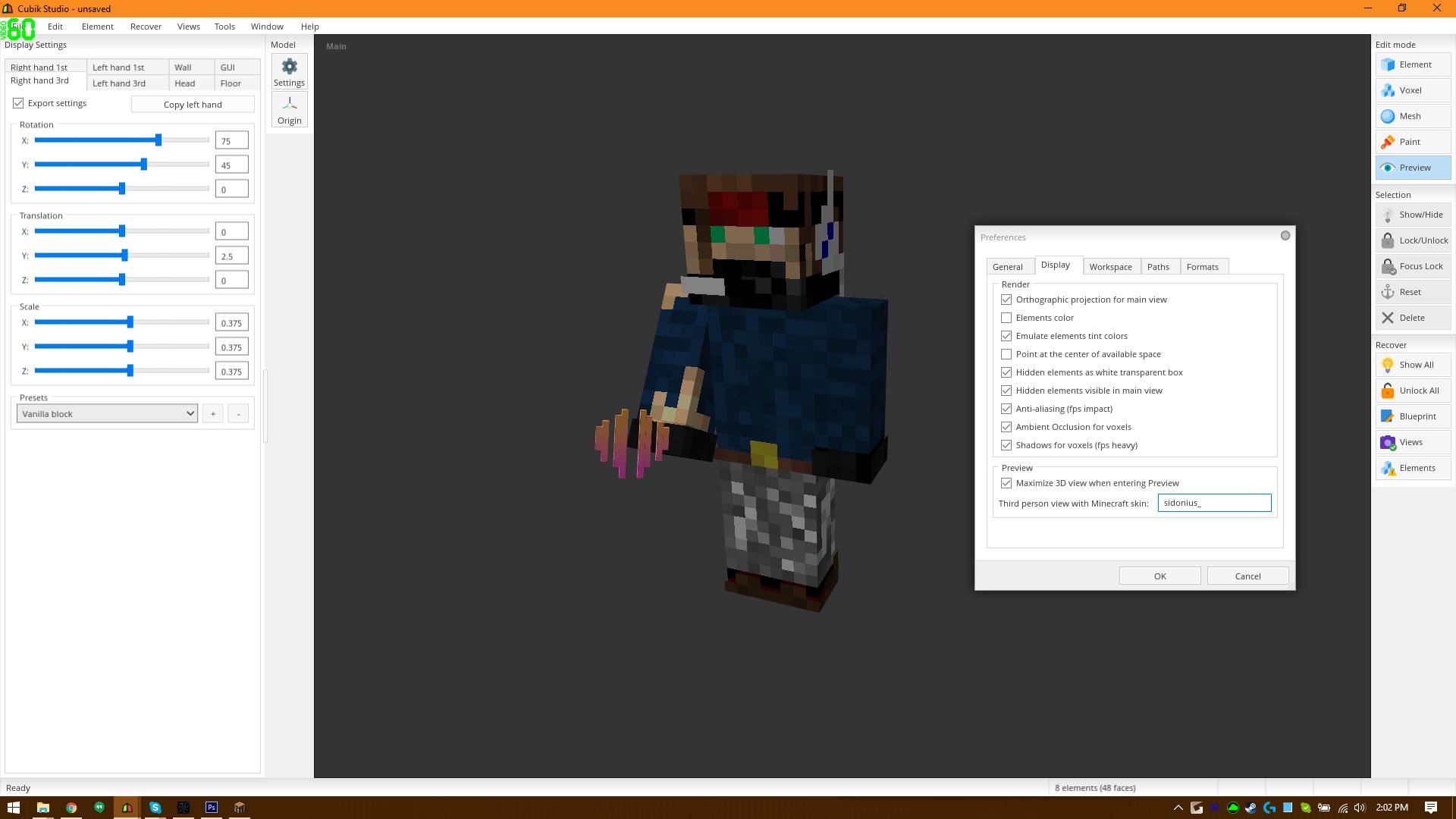 Skin preview issue - Cubik Studio