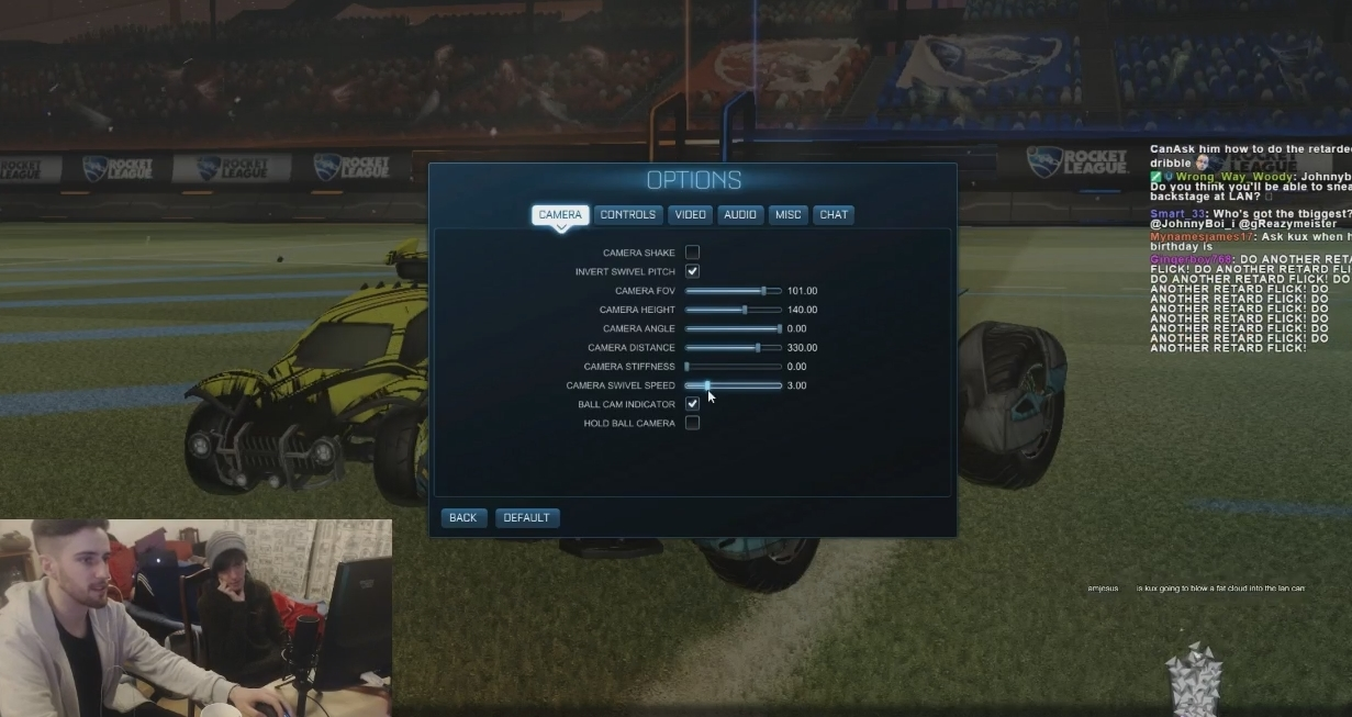 Rocket Camera : Johnnyboi got kuxir to show him us his current cam settings here