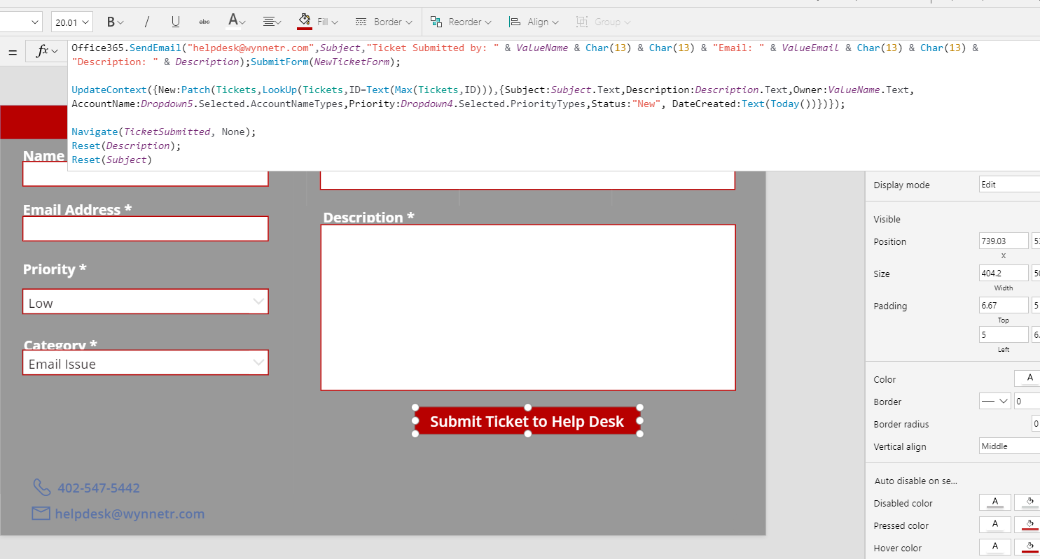 Service Desk Template add Ticket ID to email - Power Users Community