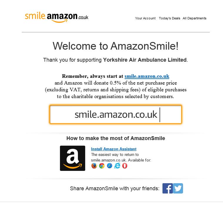 Amazon Smile 7bff7b85f26956f03f81c25684e87e0a