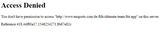 Fut Webapp Access Denied Fifa Forums