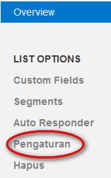 list setting