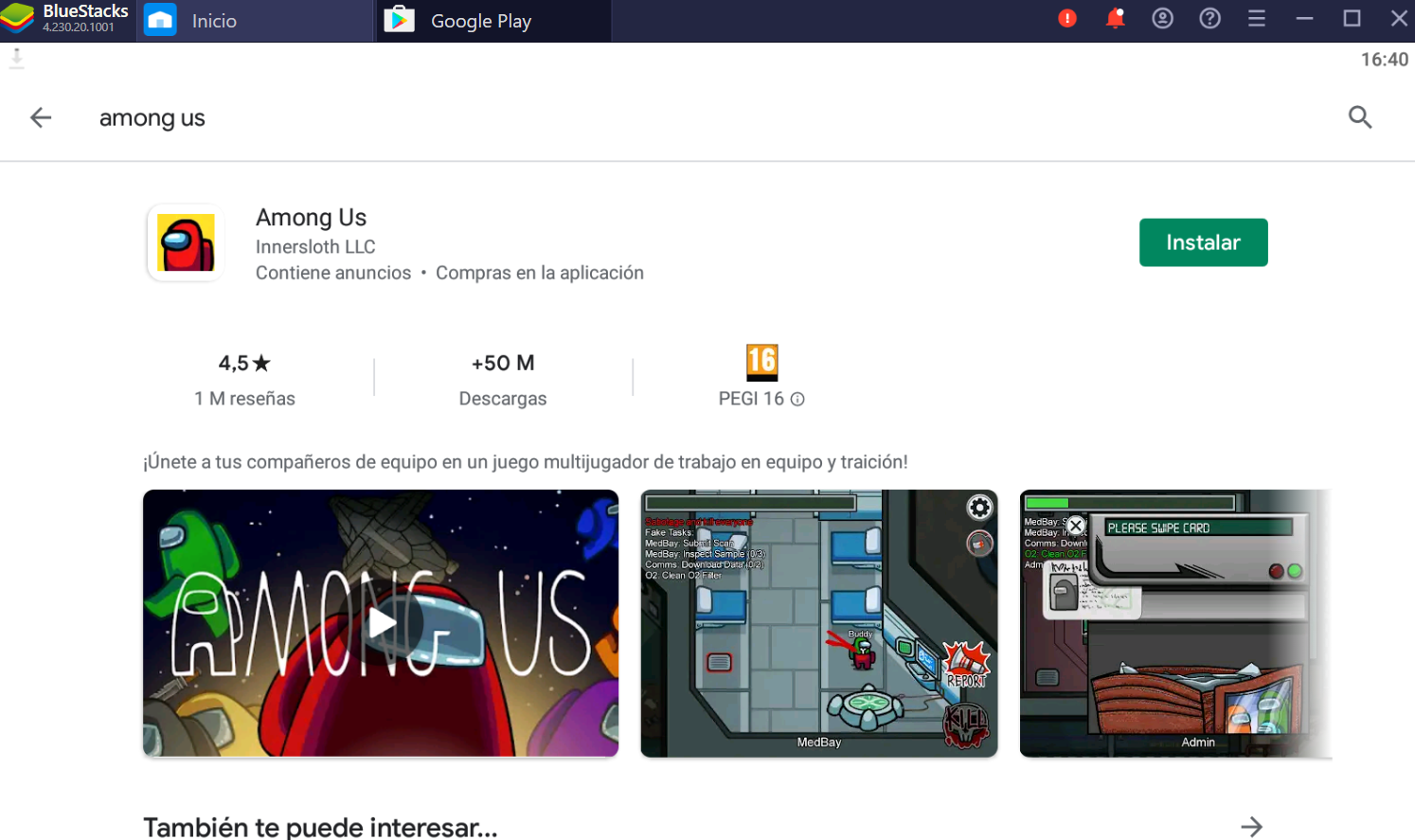among us en pc desde google play