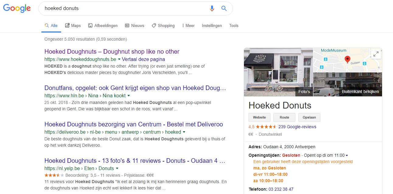 voorbeeld google my business account