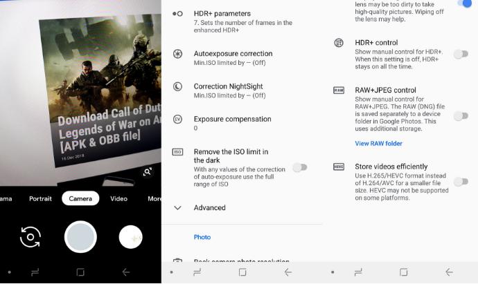Önemli - Samsung telefonlara gece görüşüyle Google Camera