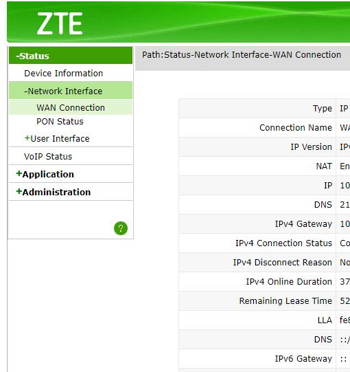Zte Zxhn H267a No Internet