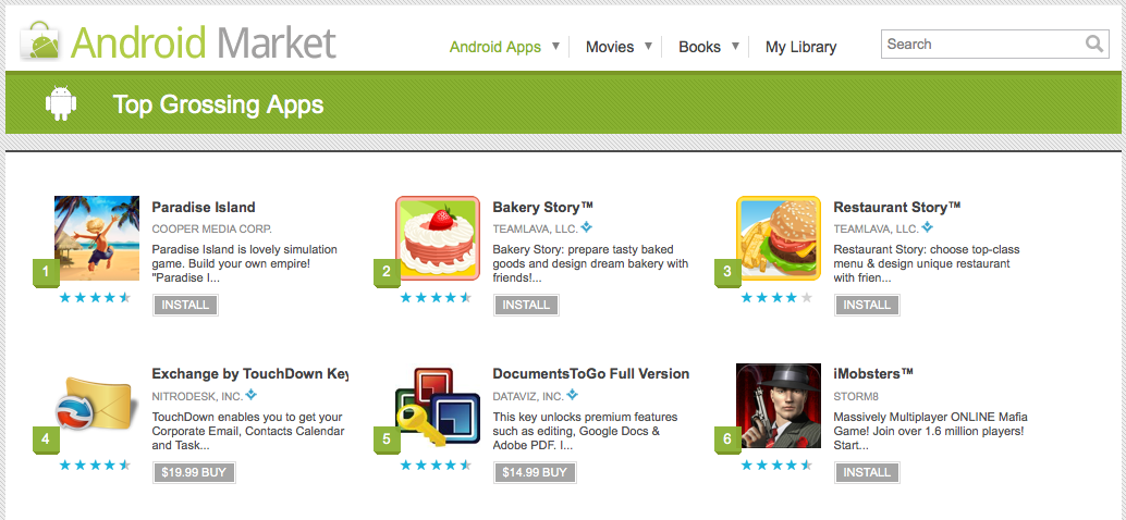 Paradise Island is The Number One on the Android Market